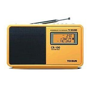 德生cr-100数字收音机 黄色