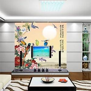 快乐贴 大型壁画墙纸壁纸 定制/出口 电视背景墙/古典
