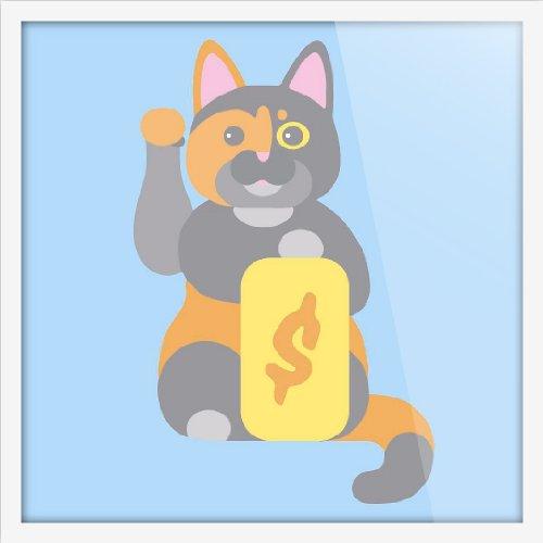 light art 轻艺术 创意插画 印象招财猫 抽象动物图片海报定制店铺