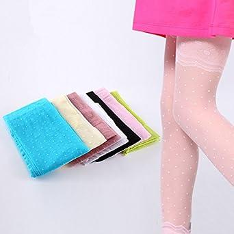 圆点蕾丝花纹连裤袜