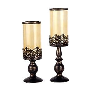 欧式古铜复古烛台摆件
