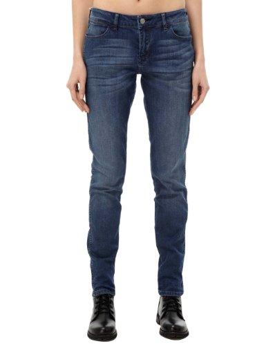 Wrangler 女式 舒适弹性复古洗水修身低腰牛仔长裤 W11785423517