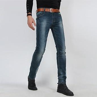男士紧身牛仔裤