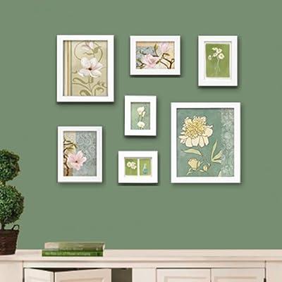 卧室餐厅玄关走廊楼梯通用7框田园风格照片墙相框画
