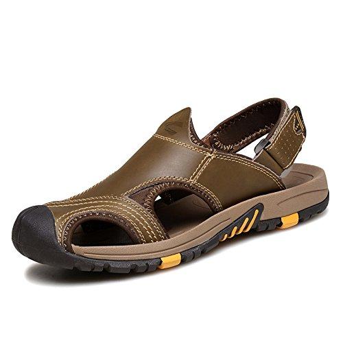 Camel Active骆驼动感男士包头真皮凉鞋夏季户外透气沙滩鞋运动休闲凉鞋男18032