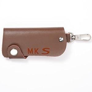 汽车用品钥匙包 男女真皮钥匙包 单圈包 咖啡色