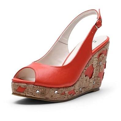 台坡跟女凉鞋-鞋靴