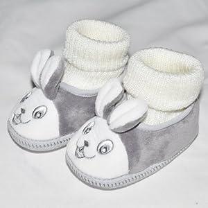 舒适宝宝学步鞋 冬季婴儿鞋子 软底防滑鞋 可爱小免子连袜款 (15码