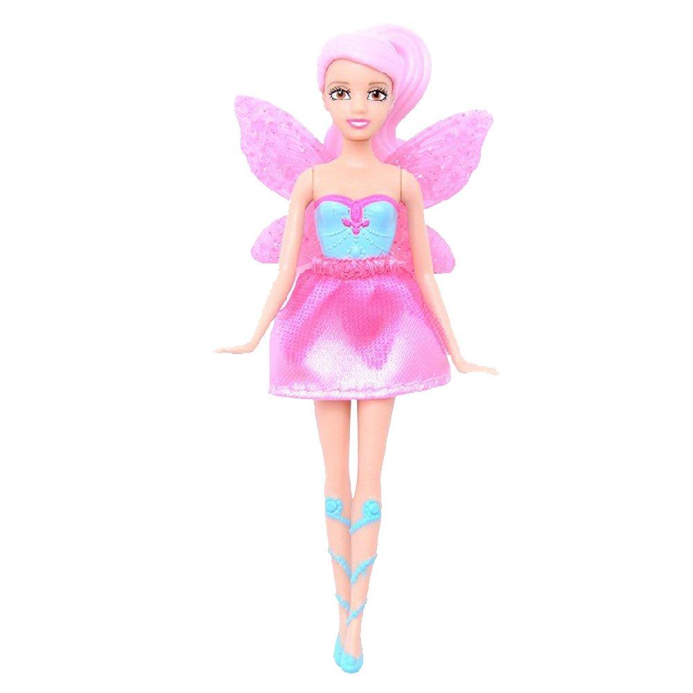 barbie 芭比 蝴蝶仙子与精灵公主之小娃娃y6385 (粉色头发6414)