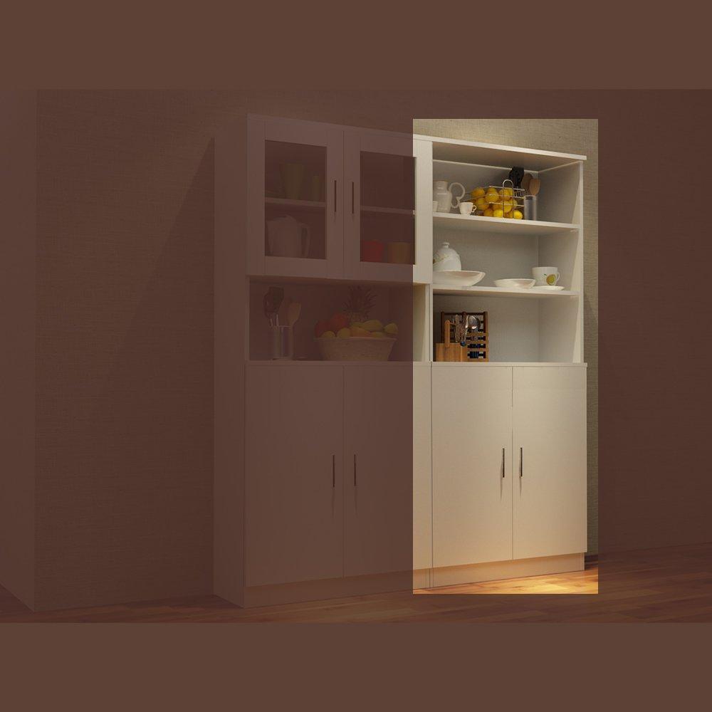 蜗爱 简约现代餐厅家具板式柜白色餐边柜玻璃门橱柜可