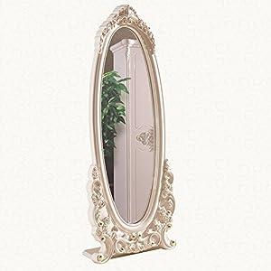 舍予家居 高档欧式雕花穿衣镜 椭圆形落地试衣镜 韩式