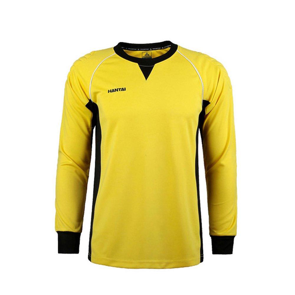 黄色图成人_hantai 汉泰 成人守门员服 球衣门将龙门服龙门衫足球服 (黄色上衣