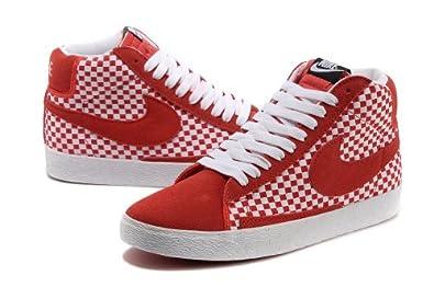 耐克编织鞋红色