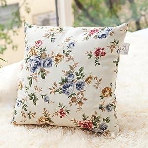 田园风格花朵图案抱枕/办公室沙发靠枕/靠垫