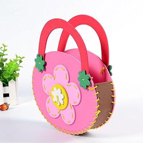 孩派eva儿童手工制作材料 diy手工材料幼儿 k1-10包包 手工包 (蝴蝶)