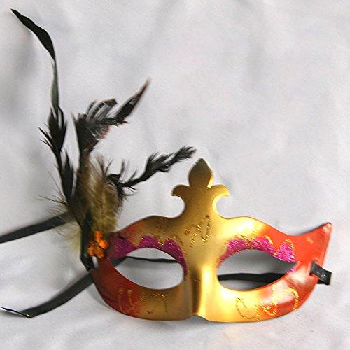 万圣节化妆舞会面具 威尼斯彩绘羽毛面具 美女公主电镀偏花面具