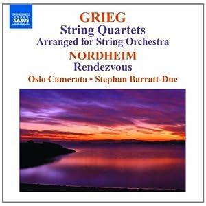 进口cd:格里格:弦乐四重奏 设置为弦乐队 诺特海姆:会