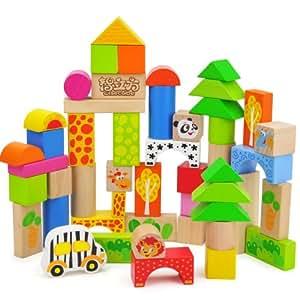 智立方 环保木质玩具 森林动物乐园7123(50粒装)智慧启航 快乐成长