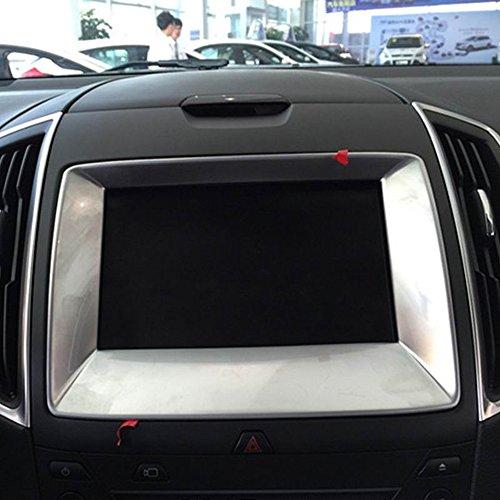 茹艺15款福特锐界内饰改装方向盘装饰框亮片 中控导航装饰框贴片 中控