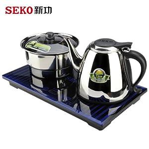 seko 新功 / f12 电热水壶 智能电子自动加水器茶道烧水茶壶 蓝色