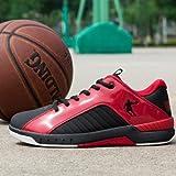 乔丹 篮球鞋男正品运动鞋男鞋低帮减震耐磨前锋球鞋AM4320122 黑色/乔丹 红 44.5-图片