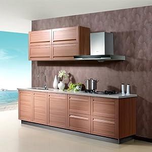 一字型定制厨柜 包覆板性价比高 1米 吊柜