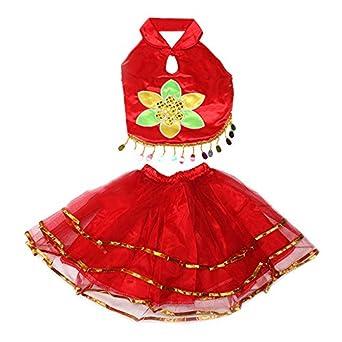 儿童舞蹈服民族舞演出服装
