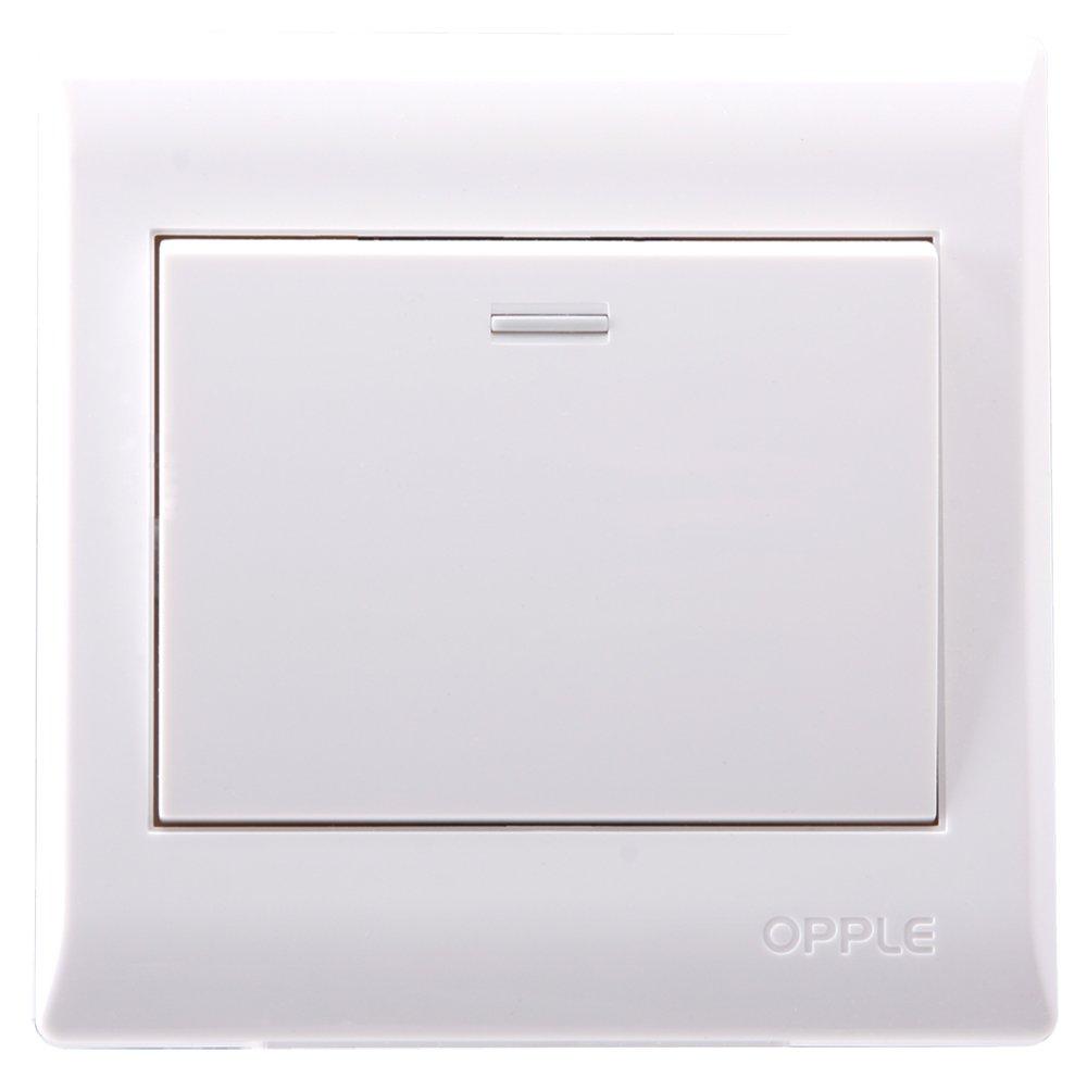 欧普照明 开关致美系列单开双控86型p081612a