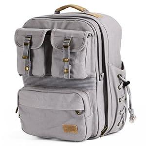 佳能单反相机包双肩摄影包 尼康数码休闲摄像机背包 (浅灰色)