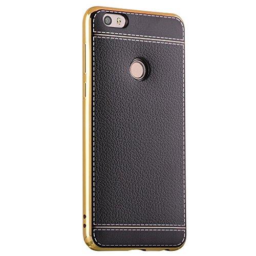 酷猫 华为荣耀note8手机壳保护套电镀tpu边框皮后壳软