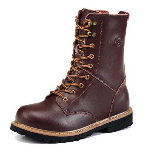 Guciheaven 古奇天伦 秋冬新款男靴休闲皮靴硬汉工装靴军靴男鞋 5585咖啡色41