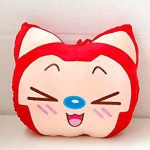 大眼猫 阿狸暖手捂抱枕/筒 圣诞特价礼物 抱枕女朋友靠垫生日 毛绒