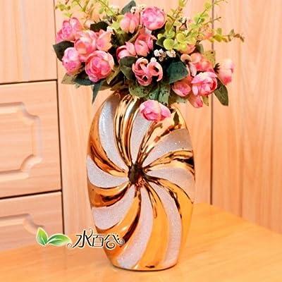 欧式小花瓶摆件台面摆设装饰花瓶现代简约