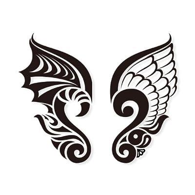 天使恶魔翅膀纹身