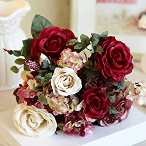 新娘手捧花 欧式客厅装饰花玫瑰假花绢花