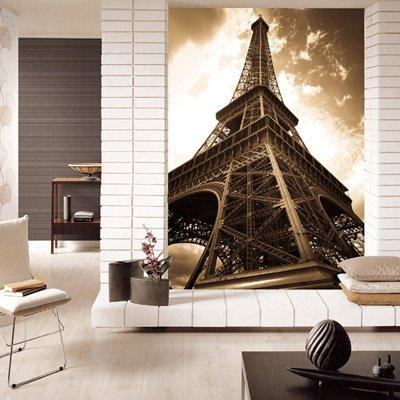 埃菲尔铁塔怀旧风格大型壁画
