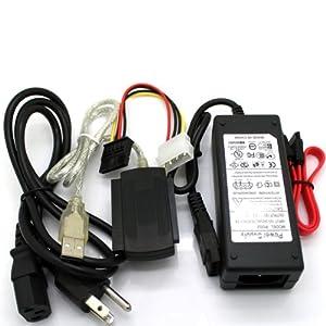 kun feng usb2.0转sata/ide电脑转接线 usb2.0转接串口硬盘 (黑色)