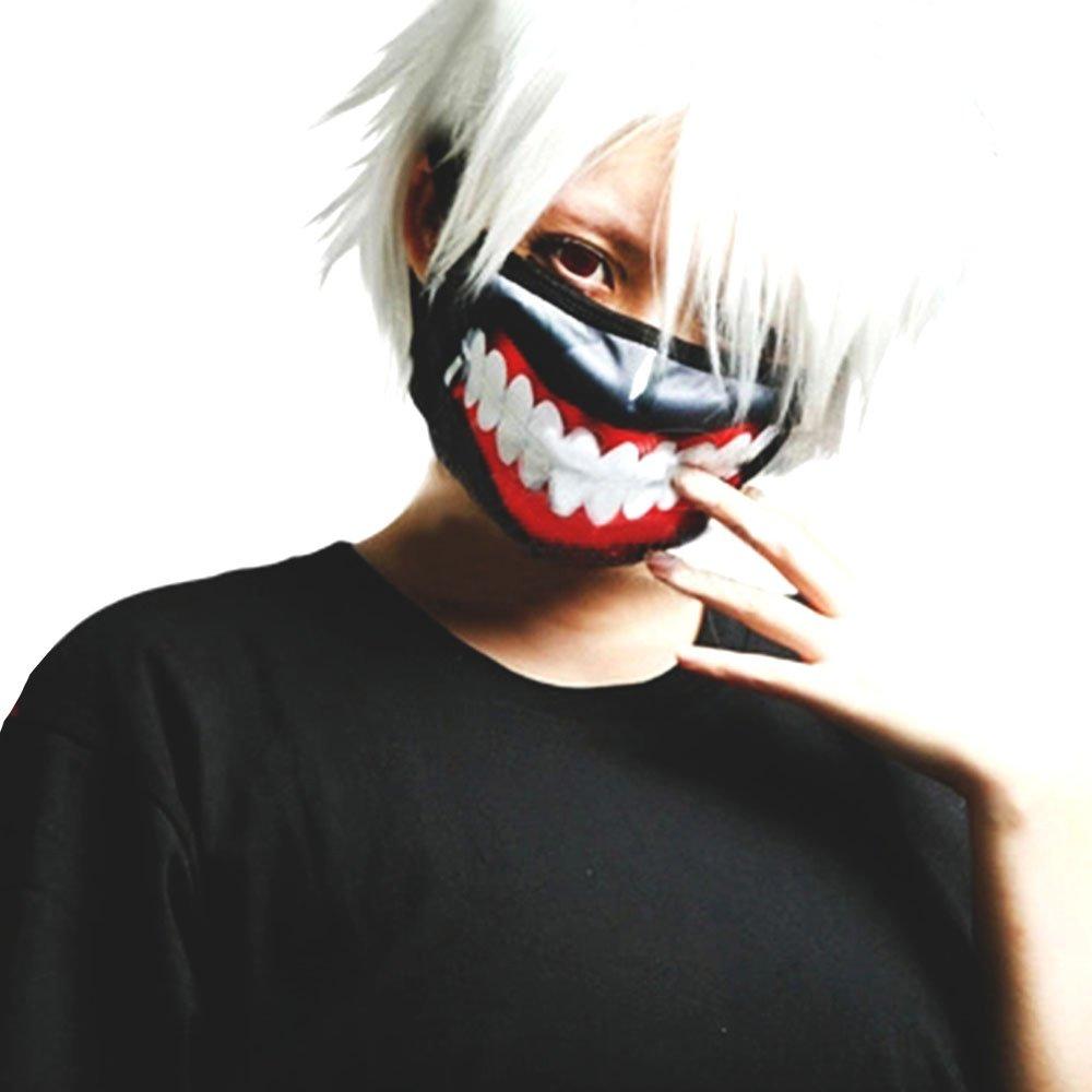 漫能 东京喰种 东京食尸鬼 金木研 超逼真 cos口罩 面罩 面具