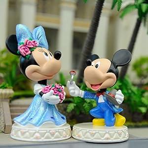 情侣 迪士尼/Disney迪士尼我们结婚吧情侣求婚版米奇米妮Q版摇头汽车饰品...