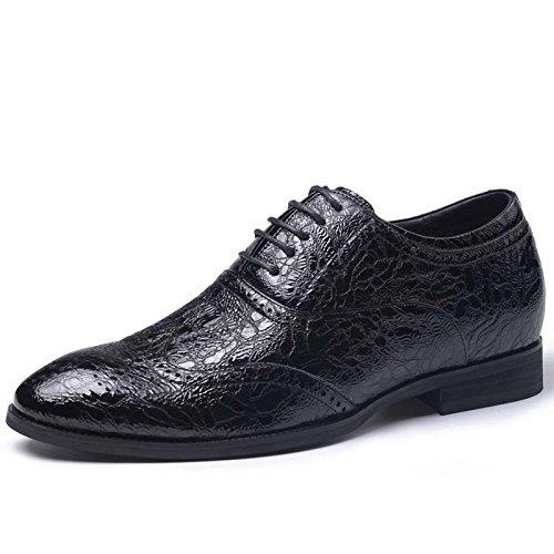 秋季新款男士亮面漆皮内增高商务皮鞋6.5厘米815675