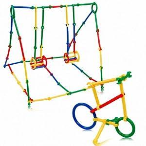 幕和 智力聪明棒积木塑料拼插积木管道式拼装积木玩具