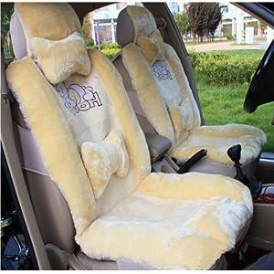 可爱卡通毛绒汽车坐垫 保暖汽车座垫 冬季通用坐垫 汽车用品 冬垫 (趴
