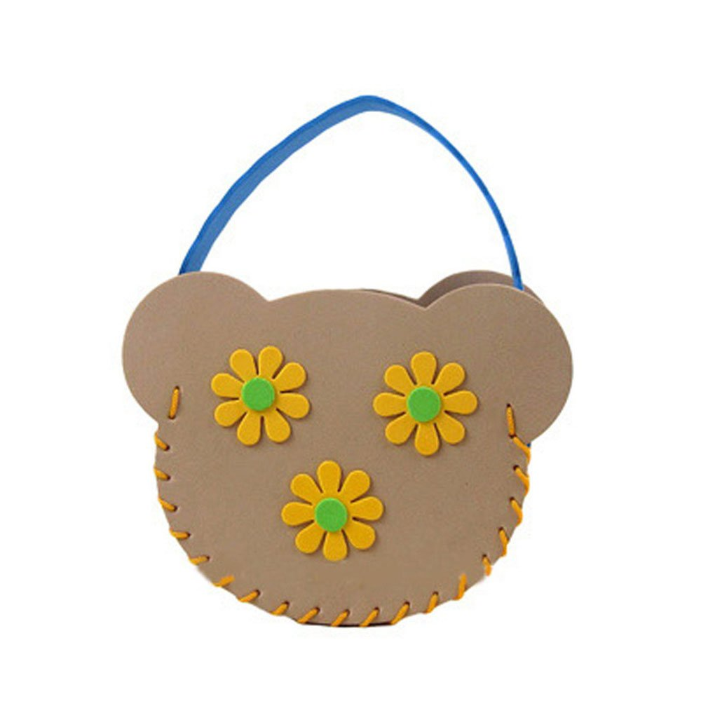 儿童制作包包挎包幼儿园手工缝制立体贴画益智手工卡通图案可爱包包