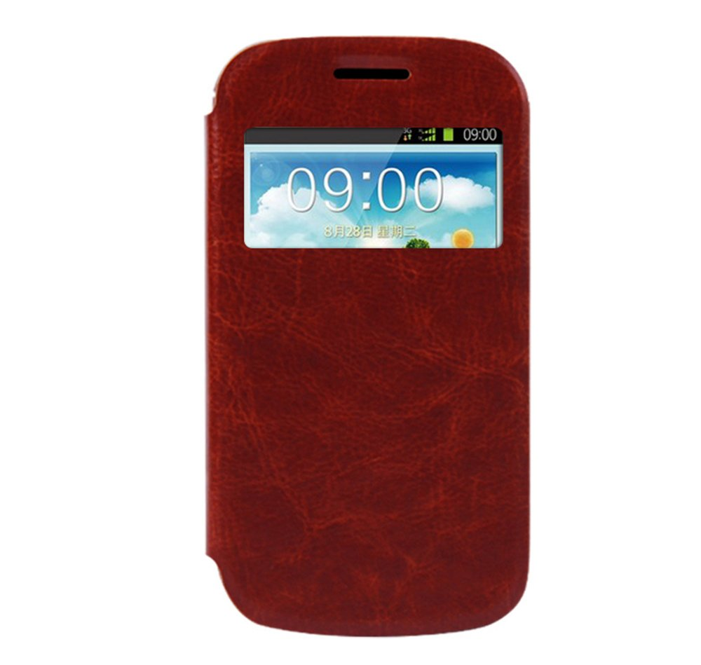 摩品 三星 i699 s7572 s7562i 手机皮套 手机壳 手机套 皮套粽色