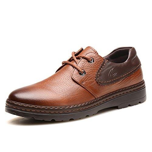 德国 骆驼 动感男鞋春秋季真皮大头鞋英伦皮鞋男士休闲鞋户外工装鞋2315