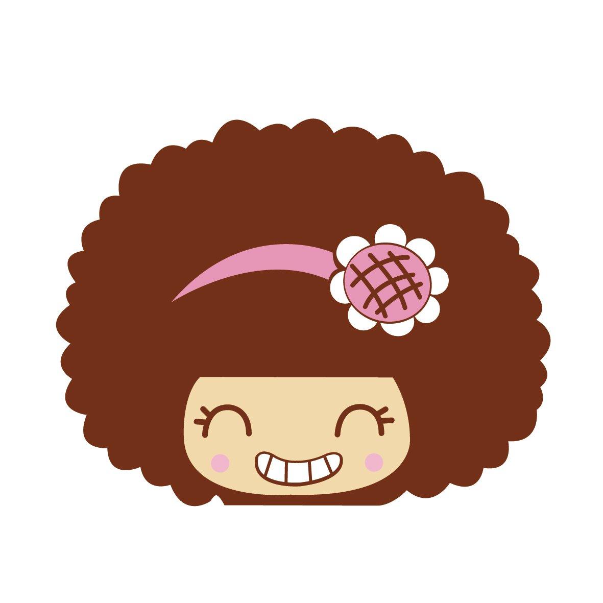卡艺 汽车贴纸 mocmoc 摩丝娃娃粉色向日葵发卡 汽车划痕贴 搞笑可爱