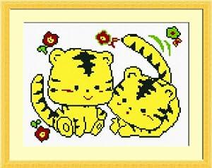 多美绣 十字绣 卡通 可爱 甜蜜-q版小老虎1 14ct图片