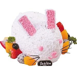 御品轩造型可爱兔子奶油水果生日蛋糕西安咸阳宝鸡送