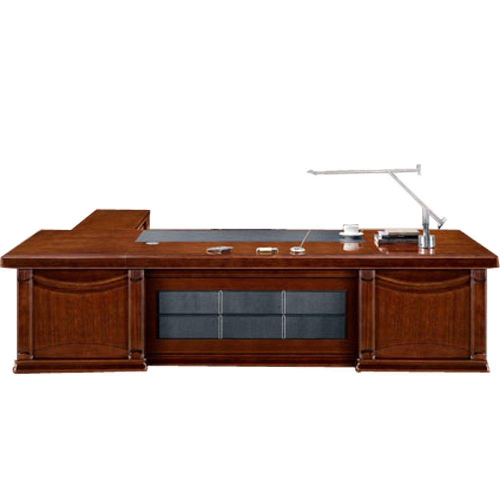 【乔志】实木大班台复古老板桌子办公桌电脑台3