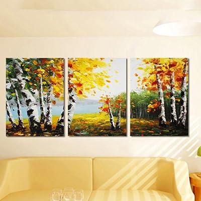 欧式油画风景画树林客厅背景墙挂画酒店